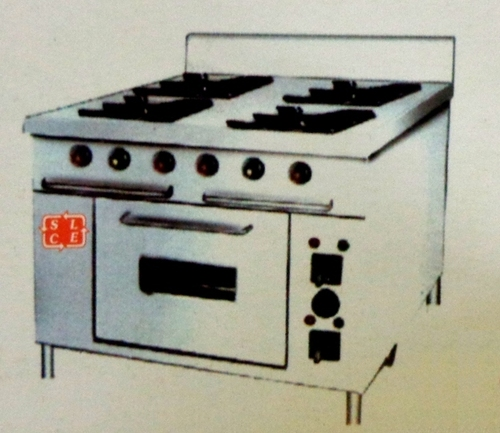 Kitchen Four Burner Range With Oven
