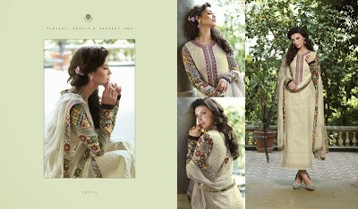 Cotton Designer Suit Pakistani Style with Pure Chiffon Dupptta in  Chandni Chowk