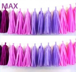 Sweet Pink and Purple Colors Paper Tassel String