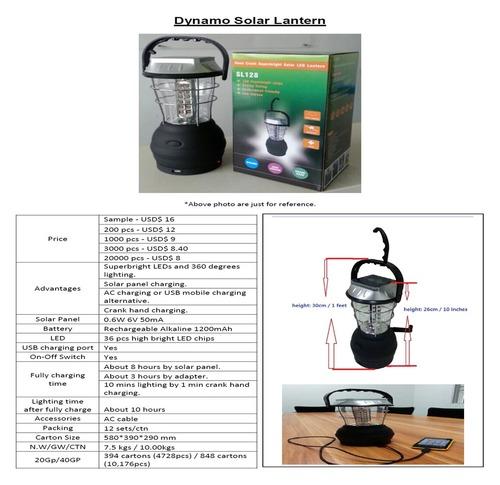 Dynamo Solar Lantern