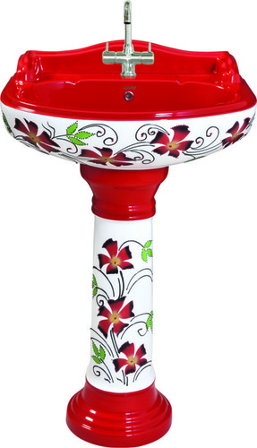 Durable Vitrosa Pedestal Wash Basin