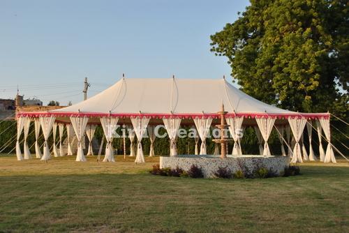 Trendy White Maharaja Tent