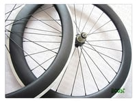 700C 60mm Clincher Carbon Alloy Road Bike Wheel