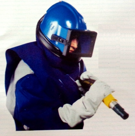 Air Supplied Blasting Helmet
