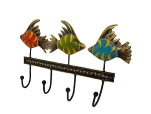 Cloth Hanger Fish With 4 Hooks