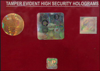 Tamper Evident High Security Holograms
