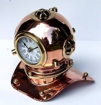 Solid Copper and Brass Chrome Plated Diver's Helmet