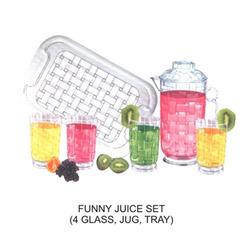 Plastic Designer Juice Set