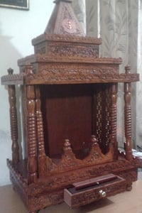 Wooden Large Carved Temple
