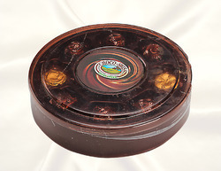 Round Small Brown Box With Inner