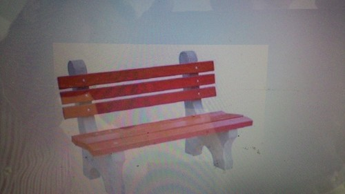 Outdoor FRP Bench in  New Area