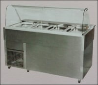 Cold Bain Marie With Sneeze Guard