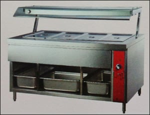 Hot Bain Marie With Sneeze Guard