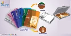 Document Wallet File With Pendrive Holder