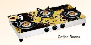Coffee Beans Designer Glass Cook Tops (Square Series)