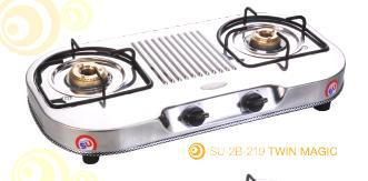 Double Burner Oval Series Gas Stoves (SU-2B-219 Twin Magic)