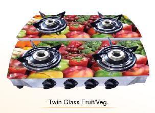 Twin Glass Fruit / Veg. Cook Tops (Double Decker Series)