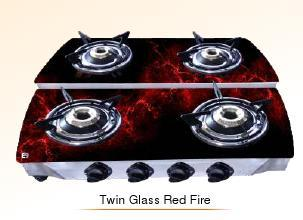 Twin Glass Red Fire Cook Tops (Double Decker Series)