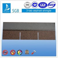 3-Tab Asphalt Roofing Shingle For Single Roofing Materials