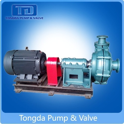 Copper Mine Usage Rubber Anti-Corrosion Lined Electric Horizontal Centrifugal Slurry Pump