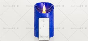 Remote Control Flickering LED Paraffin Wax Candles
