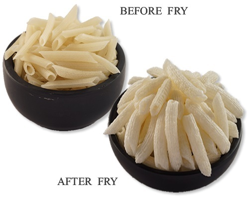 Penne Shaped Potato Papad (Snacks Pellets)