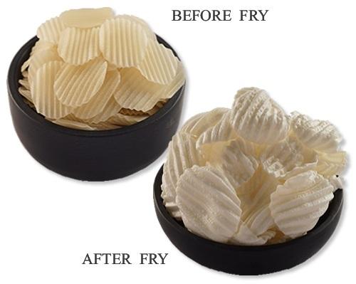 Wavy Chips Shaped Potato Papad (Snacks Pellets)