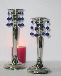 Brass Candle Holder with Beads