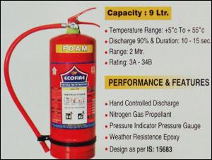 9 Ltr. Foam Base Fire Extinguisher