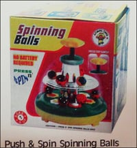 Push And Spin Spinning Balls Toys