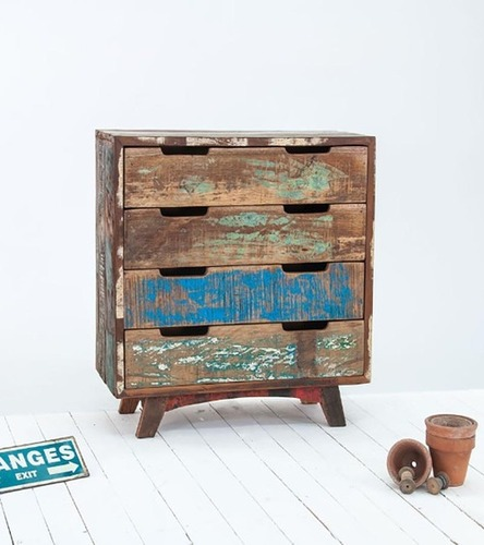 Reclaimed 4 Drawer Chest