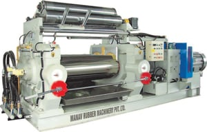 Two Rollers Open Rubber Mixing Mill