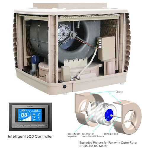 Outer Rotor Brushless DC Motor Centrifugal Evaporative Air Cooler