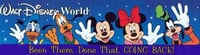 Disney World Bumper Stickers