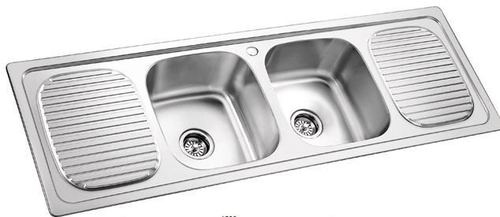 Double Kitchen Sink With Drainboard.Double Bowl Sink With Double Drain Board In Shahbad