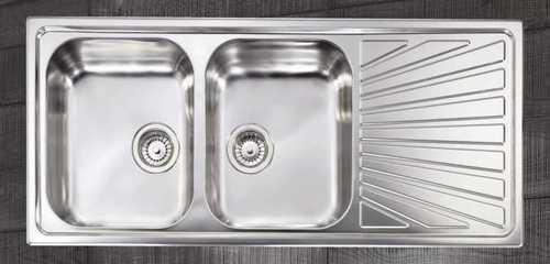 Double Bowl With Drain Board Sink in  Shahbad Daulatpur