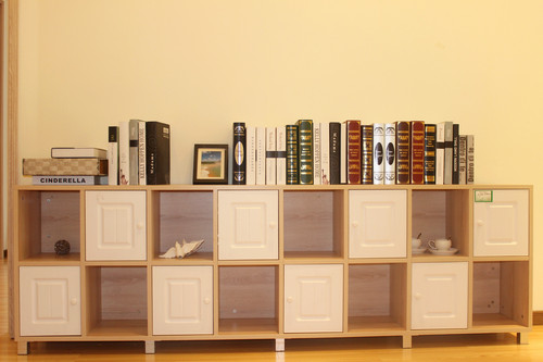 Wood Living Room Small Bookcase