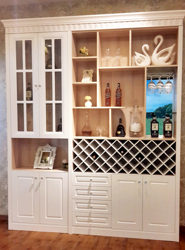 Wooden Home Bar Cabinet For Living Room And Dining Room
