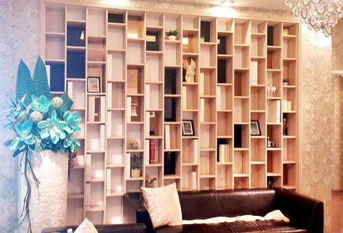 Wood Living Room Showcase