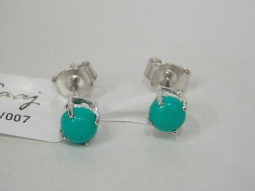 925 Sterling Silver Turquoise Studs