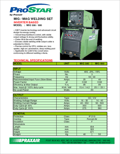 Industrial MIG Welding Machine
