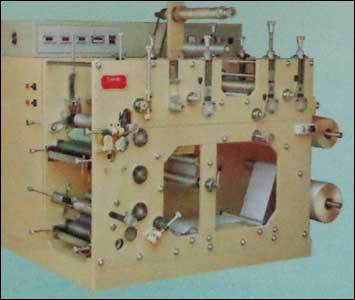 Two Colour Flexo Rotary Label Printing Press with 3 Die cutting Stations (Jandu CD-1523) in  58-Sector