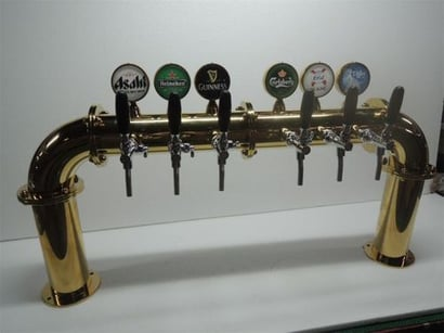 Six Taps Beer Tower Chiller