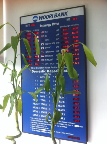 Bank Interest Rates Display Boards