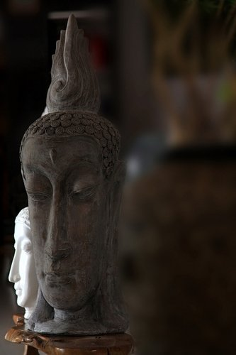 Terracota Budha Face Carved