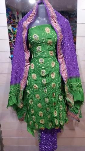 Bandhani Gadwal Suit