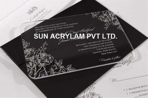 Acrylic Invitation Card Sheet