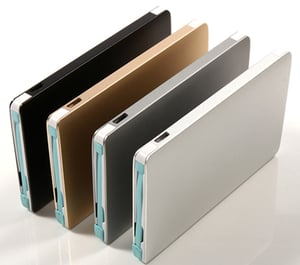 Ultra Thin 2200mAh Metal Case Credit Card Shape Emergency Charger For Phones