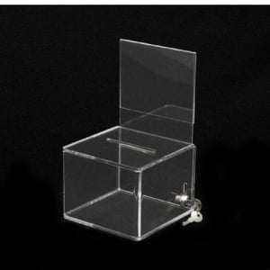 Customized Acrylic Donation Boxes With Lock