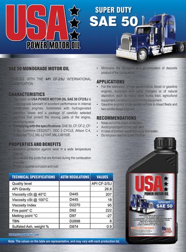 SUPER DUTY SAE 50 Motor Oil